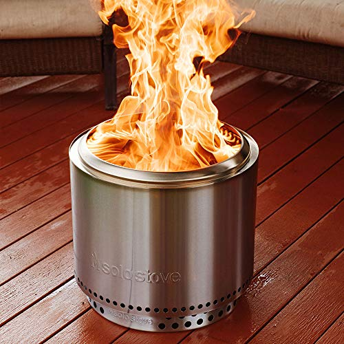Solo Stove Bonfire Stainless Steel Wood Burning Smokeless Bonfire with Stand and Carrying Case Large 195 inch 0 1