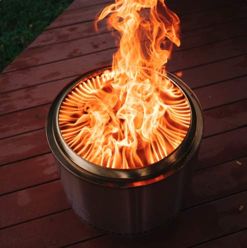 Solo Stove Bonfire Stainless Steel Wood Burning Smokeless Bonfire with Stand and Carrying Case Large 195 inch 0 2