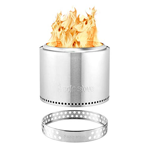 Solo Stove Bonfire Stainless Steel Wood Burning Smokeless Bonfire with Stand and Carrying Case Large 195 inch 0
