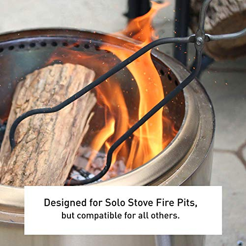 Solo Stove Stainless Steel Fire Pit Tools Tongs for Wood in Fire Pit Includes Set of 365 inch Fire Pit Wood Grabber Poker and 32 inch Grabber Great for Outdoor Fire Pits and Fire Pit Accessories 0 1