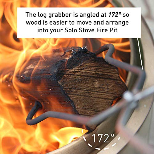 Solo Stove Stainless Steel Fire Pit Tools Tongs for Wood in Fire Pit Includes Set of 365 inch Fire Pit Wood Grabber Poker and 32 inch Grabber Great for Outdoor Fire Pits and Fire Pit Accessories 0 2