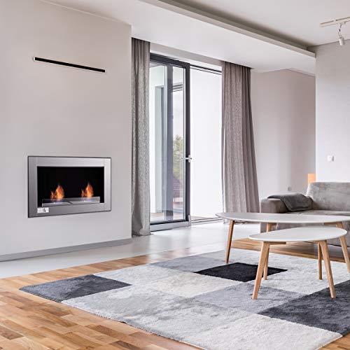 Tangkula 38 Wall Mounted Fireplace Dual Burner Bio Ethanol Fireplace Ventless Hanging Fireplace Tabletop Fireplace 0 2