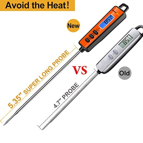 ThermoPro TP01A Instant Read Meat Thermometer with Long Probe Digital Food Cooking Thermometer for Grilling BBQ Smoker Grill Kitchen Oil Candy Thermometer 0 4