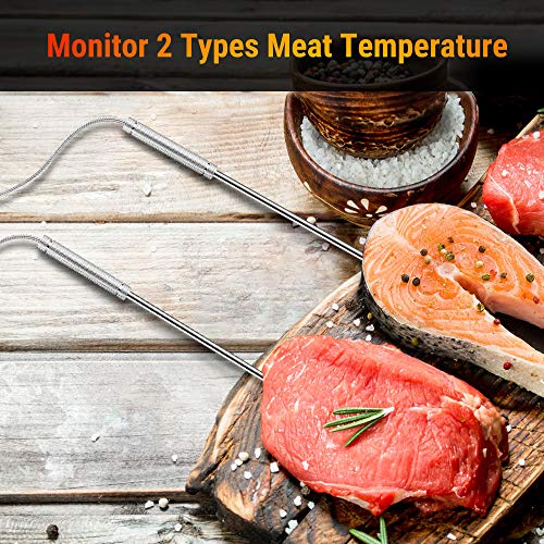 ThermoPro TP08S Wireless Digital Meat Thermometer for Grilling Smoker BBQ Grill Oven Thermometer with Dual Probe Kitchen Cooking Food Thermometer 0 0