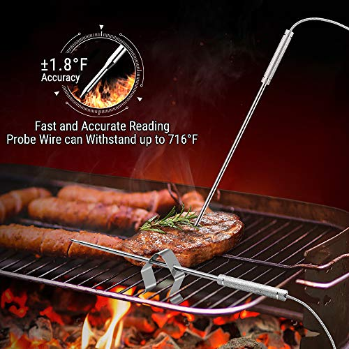 ThermoPro TP08S Wireless Digital Meat Thermometer for Grilling Smoker BBQ Grill Oven Thermometer with Dual Probe Kitchen Cooking Food Thermometer 0 5