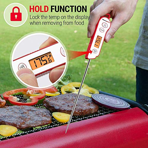 ThermoPro TP15 Digital Waterproof Instant Read Meat Thermometer for Grilling Cooking Food Candy Thermometer Kitchen with Calibration Backlight for BBQ Smoker Grill Thermometer 0 2