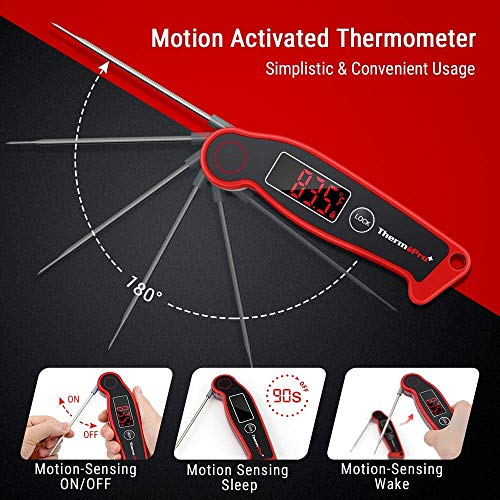 ThermoPro TP19 Waterproof Digital Meat Thermometer for Grilling with Ambidextrous Backlit Thermocouple Instant Read Thermometer Kitchen Cooking Food Thermometer for Candy Water Oil BBQ Grill Smoker 0 3
