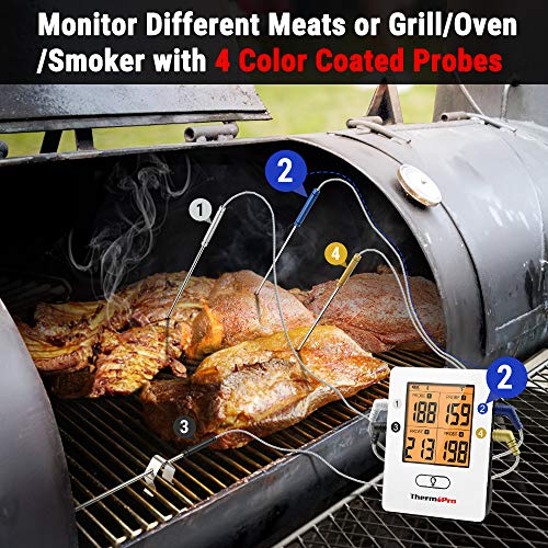 ThermoPro TP25 500ft Wireless Bluetooth Meat Thermometer with 4 Temperature Probes Smart Digital Cooking BBQ Thermometer for Grilling Oven Food Smoker Thermometer Rechargeable 0 3