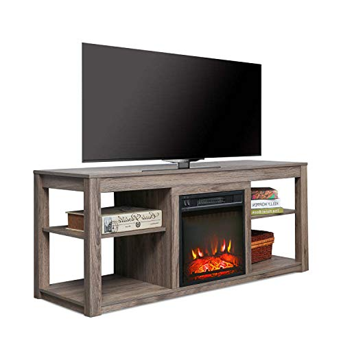 Top Space Electric Fireplace TV Stand Entertainment Center Corner Electric Fireplace Console Fireplace Heater for TVs up to 70Wooden Electric Fireplace TV StandNatural 0 0
