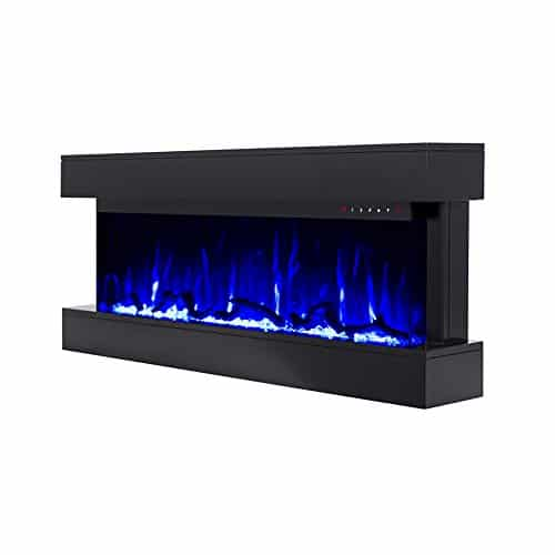 Touchstone Chesmont 50 80034 50 Black Mantle Wall Hanging Electric Fireplace 0 0