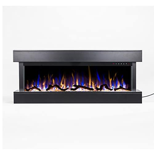 Touchstone Chesmont 50 80034 50 Black Mantle Wall Hanging Electric Fireplace 0 4