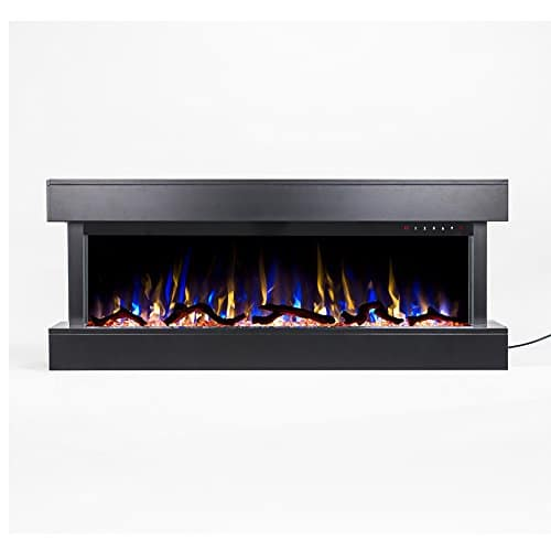 Touchstone Chesmont 50 80034 50 Black Mantle Wall Hanging Electric Fireplace 0