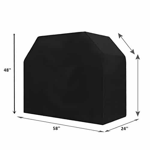 TowenHouse Grill Cover 58 Inch Grill Cover BBQ Grill CoverGas Grill Cover for WeberLight WeightWater ResistantBlack 0 0
