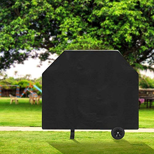 TowenHouse Grill Cover 58 Inch Grill Cover BBQ Grill CoverGas Grill Cover for WeberLight WeightWater ResistantBlack 0 1