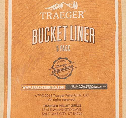 Traeger Grills BAC407z 5 Pack Bucket Liner Basic Pack 0 2