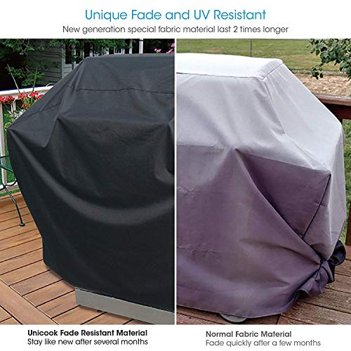 Unicook Heavy Duty Waterproof Barbecue Gas Grill Cover 55 inch BBQ Cover Special Fade and UV Resistant Material Durable and Convenient Fits Weber Char Broil Nexgrill Brinkmann Grills and More 0 0