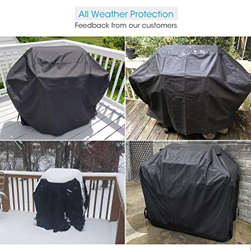 Unicook Heavy Duty Waterproof Barbecue Gas Grill Cover 55 inch BBQ Cover Special Fade and UV Resistant Material Durable and Convenient Fits Weber Char Broil Nexgrill Brinkmann Grills and More 0 1