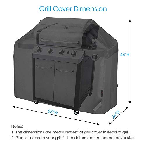 Unicook Heavy Duty Waterproof Barbecue Gas Grill Cover 65 inch BBQ Cover Special Fade and UV Resistant Material Durable and Convenient Fits Grills of Weber Char Broil Nexgrill Brinkmann and More 0 0