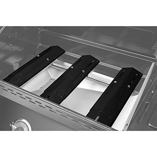 Unicook Universal Replacement Heavy Duty Adjustable Porcelain Steel Heat Plate Shield Heat Tent Flavorizer Bar Burner Cover Flame Tamer for Gas Grill Extends from 1175 up to 21 L 4 Pack 0 1