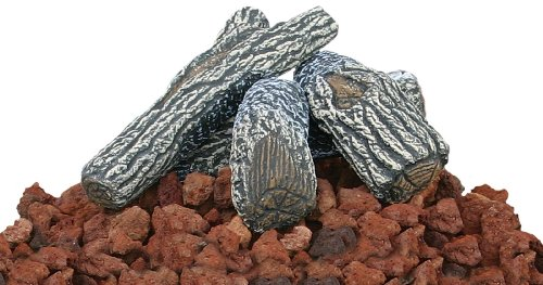 Uniflame Lava Rock and Log Kit for Propane Fire Pits 0