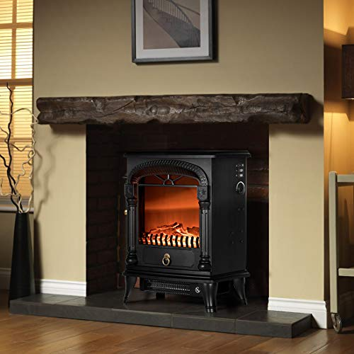 VIVOHOME 110V 20 Inch Portable Free Standing Electric Fireplace Insert Stove Heater with Realistic Log Flame Effect 0 2