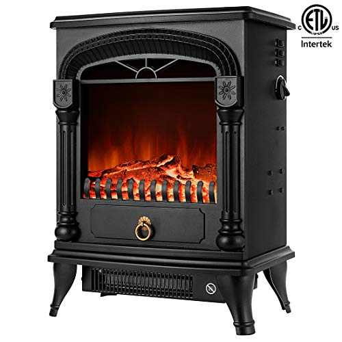 VIVOHOME 110V 20 Inch Portable Free Standing Electric Fireplace Insert Stove Heater with Realistic Log Flame Effect 0