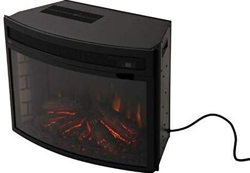 Verve 24 Curved Electric Fireplace Insert Black 0 5