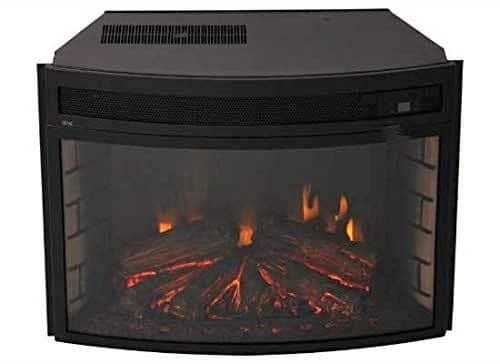 Verve 24 Curved Electric Fireplace Insert Black 0