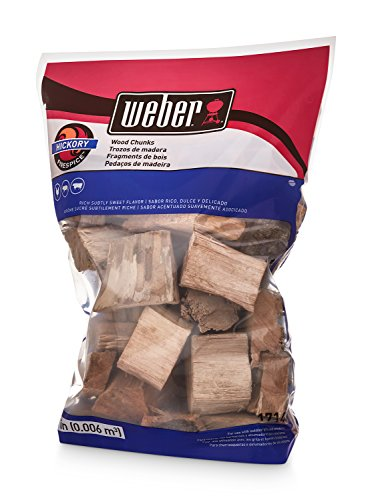 Weber 17148 Hickory Wood Chunks 350 cu in 0006 Cubic Meter 4 lb 0
