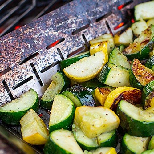 Weber 6434 Deluxe Ss Vegetable Basket Stainless Steel 0 1