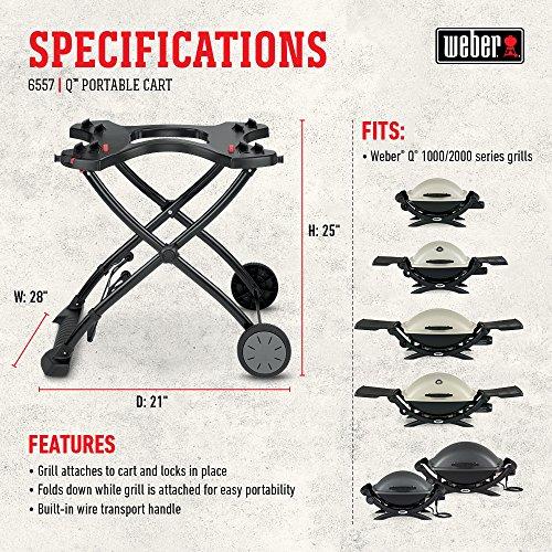 Weber 6557 Q Portable Cart 282 x 21 x 25 Black 0 2