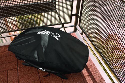 Weber 7111 Grill Cover for Q 2002000 Series Gas GrillsBlack 0 3