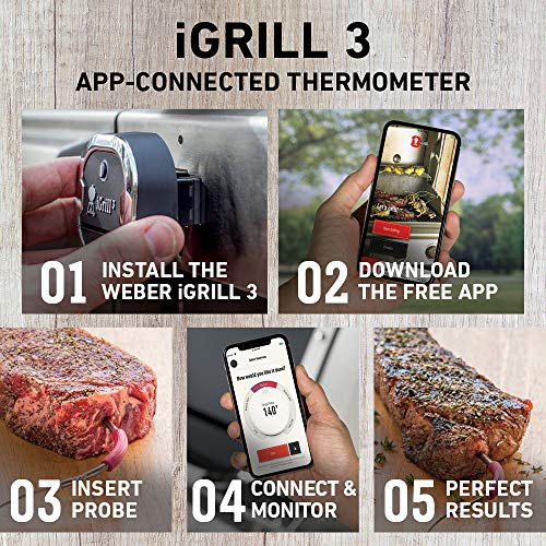 Weber 7204 iGrill 3 Grill Thermometer 0 0