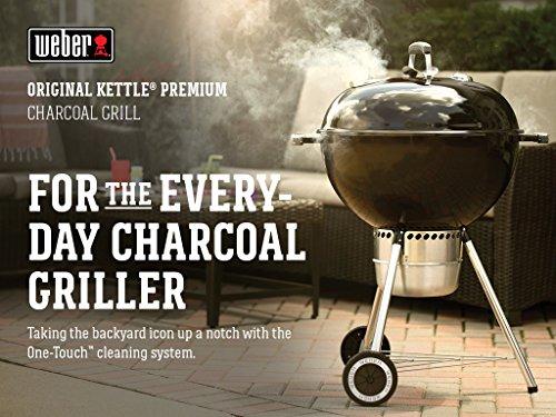 Weber Original Kettle Premium Charcoal Grill 22 Inch Black 0 4