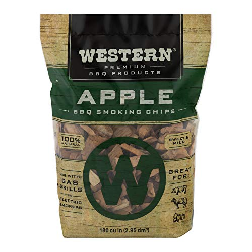 Western BBQ Smoking Wood Chips Variety Pack Bundle 4 Apple Mesquite Hickory and Cherry Flavors 0 0
