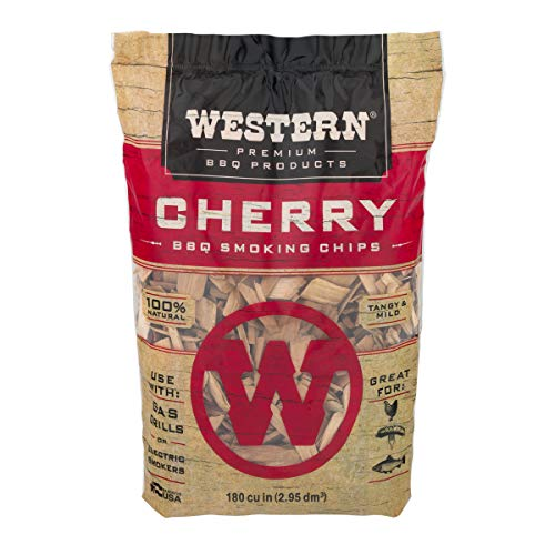 Western BBQ Smoking Wood Chips Variety Pack Bundle 4 Apple Mesquite Hickory and Cherry Flavors 0 1