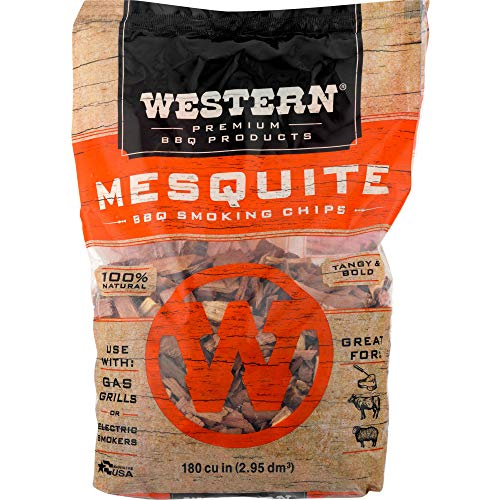 Western BBQ Smoking Wood Chips Variety Pack Bundle 4 Apple Mesquite Hickory and Cherry Flavors 0 3
