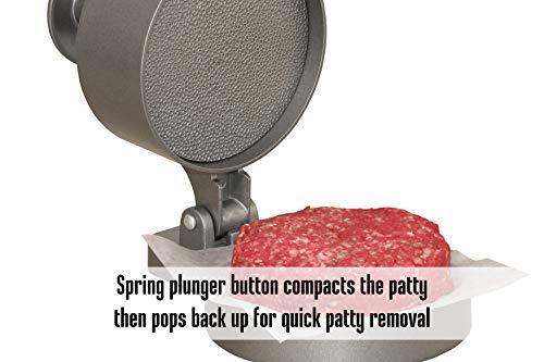 Weston Burger Express Hamburger Press With Patty Ejector 07 0310 W Makes 4 12 Patties 14Lb To 34Lb 0 4