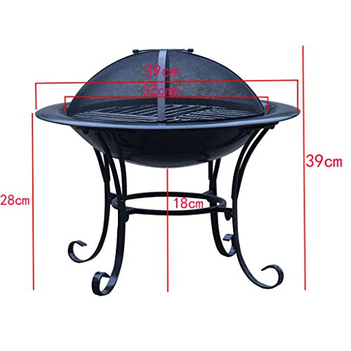 XLOO Outdoor Fire Pit Large Bonfire Wood Burning Patio Backyard FirepitOutdoor Patio Steel BBQ Grill Fire Pit Bowl wSpark Screen CoveLog Grate Poker for Backyard Camping Picnic 0 0