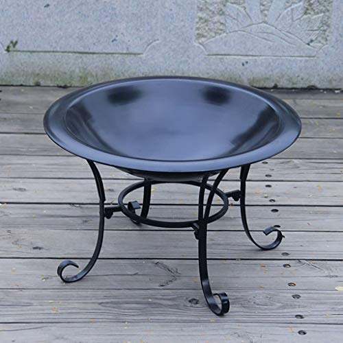 XLOO Outdoor Fire Pit Large Bonfire Wood Burning Patio Backyard FirepitOutdoor Patio Steel BBQ Grill Fire Pit Bowl wSpark Screen CoveLog Grate Poker for Backyard Camping Picnic 0 2