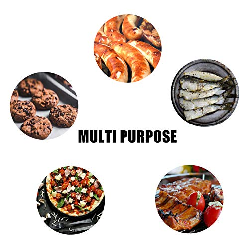 YRYM HT Copper Grill Mat Set of 5 13x1575Grill Mats Non Stick BBQ Grill Baking Mats Reusable and Easy to Clean Works on Gas Charcoal Electric Grill 0 4