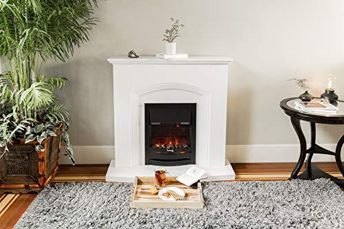 e Flame USA Abbotsford Electric Fireplace Stove Mantel Surround 45 inch Elegant White Gloss Finish 0 2