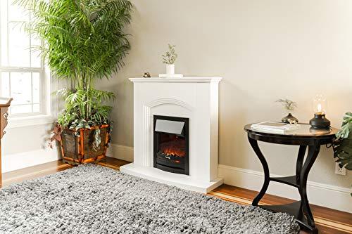 e Flame USA Abbotsford Electric Fireplace Stove Mantel Surround 45 inch Elegant White Gloss Finish 0 3