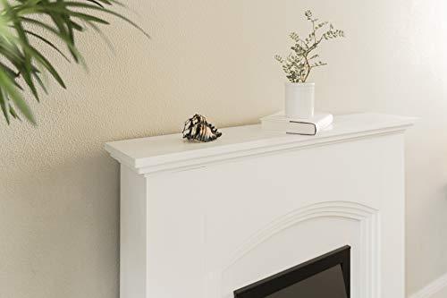 e Flame USA Abbotsford Electric Fireplace Stove Mantel Surround 45 inch Elegant White Gloss Finish 0 4