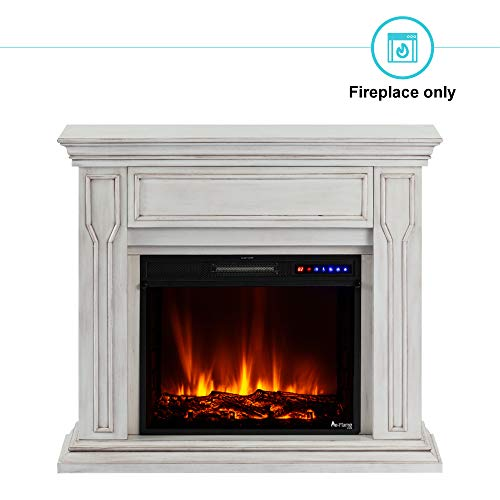 e Flame USA Breckenridge 25x20 LED Electric Fireplace Stove Insert with Remote 3D Logs and Fire Black 0 1
