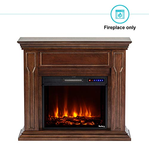 e Flame USA Breckenridge 25x20 LED Electric Fireplace Stove Insert with Remote 3D Logs and Fire Black 0 2