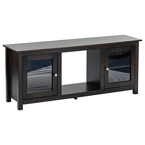 e Flame USA Montana Electric Fireplace Stove TV Stand 58x24 Dark Oak Finish 0 0