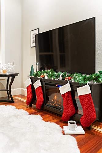 e Flame USA Montana Electric Fireplace Stove TV Stand 58x24 Dark Oak Finish 0 3