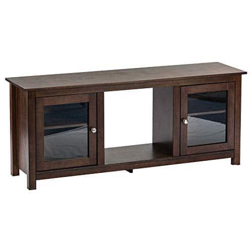 e Flame USA Montana Electric Fireplace Stove TV Stand 58x24 Walnut Espresso Finish 0 0