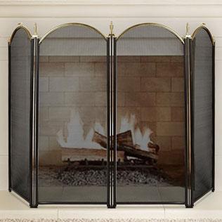 Amagabeli Large Gold Fireplace Screen